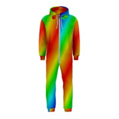 Background Diagonal Refraction Hooded Jumpsuit (kids)