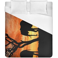 Family Of African Elephants Duvet Cover (california King Size)