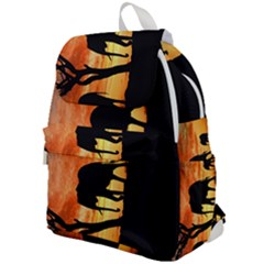 Family Of African Elephants Top Flap Backpack