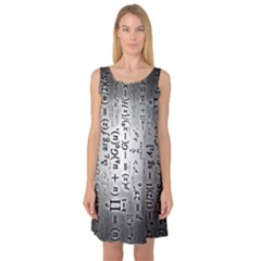 Science Formulas Sleeveless Satin Nightdress