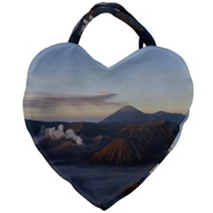 Sunrise Mount Bromo Tengger Semeru National Park  Indonesia Giant Heart Shaped Tote