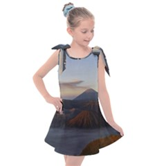 Sunrise Mount Bromo Tengger Semeru National Park  Indonesia Kids  Tie Up Tunic Dress