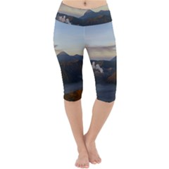 Sunrise Mount Bromo Tengger Semeru National Park  Indonesia Lightweight Velour Cropped Yoga Leggings by Sudhe