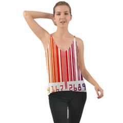 Colorful Gradient Barcode Chiffon Cami