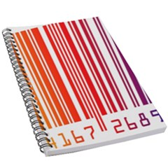 Colorful Gradient Barcode 5 5  X 8 5  Notebook