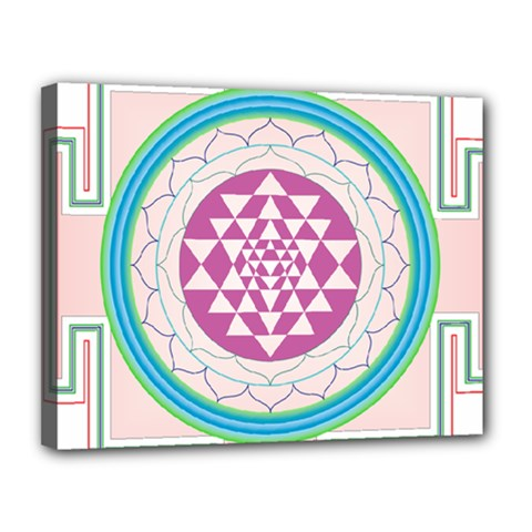 Mandala Design Arts Indian Canvas 14  X 11  (stretched)
