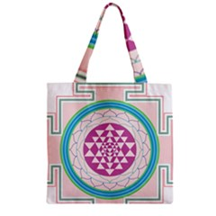 Mandala Design Arts Indian Zipper Grocery Tote Bag by Sudhe
