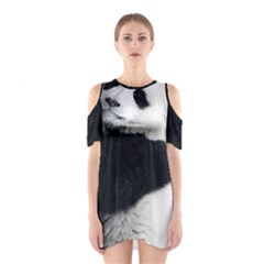 Panda Bear Sleeping Shoulder Cutout One Piece Dress