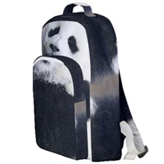 Panda Bear Sleeping Double Compartment Backpack