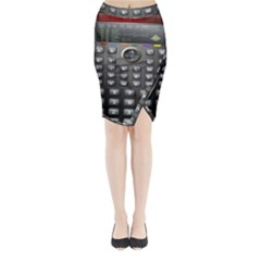 Scientific Solar Calculator Midi Wrap Pencil Skirt