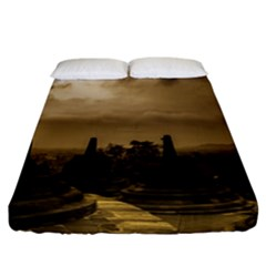 Borobudur Temple  Indonesia Fitted Sheet (california King Size)