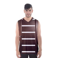 Minimalis Brown Door Men s Basketball Tank Top by Sudhe