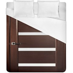 Minimalis Brown Door Duvet Cover (california King Size) by Sudhe