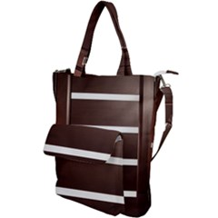 Minimalis Brown Door Shoulder Tote Bag