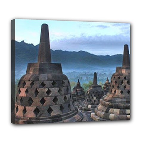 Borobudur Temple  Morning Serenade Deluxe Canvas 24  X 20  (stretched)