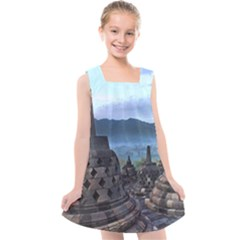 Borobudur Temple  Morning Serenade Kids  Cross Back Dress