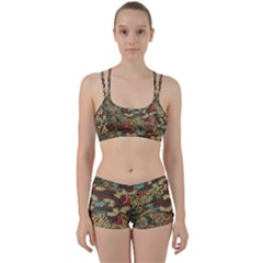 Colorful The Beautiful Of Art Indonesian Batik Pattern Perfect Fit Gym Set