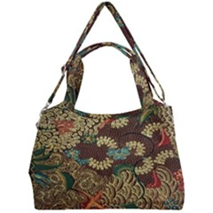 Colorful The Beautiful Of Art Indonesian Batik Pattern Double Compartment Shoulder Bag