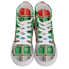 Set Of The Twelve Signs Of The Zodiac Astrology Birth Symbols Women s Hi Top Skate Sneakers