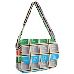 Set Of The Twelve Signs Of The Zodiac Astrology Birth Symbols Courier Bag