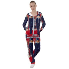 Red London Phone Boxes Women s Tracksuit
