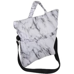 Marble Granite Pattern And Texture Fold Over Handle Tote Bag by Sudhe