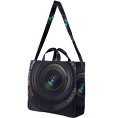 Vintage Camera Digital Square Shoulder Tote Bag