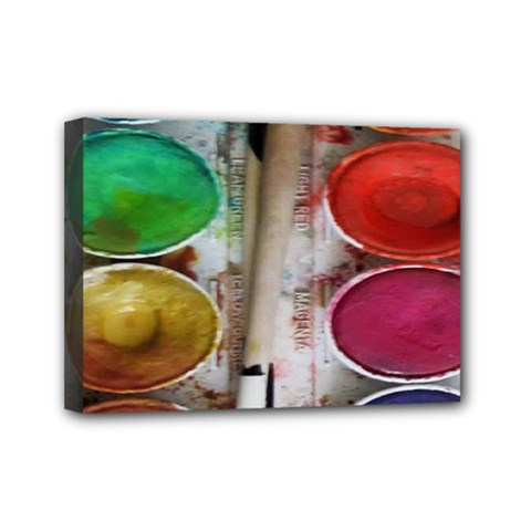 Paint Box Mini Canvas 7  X 5  (stretched)