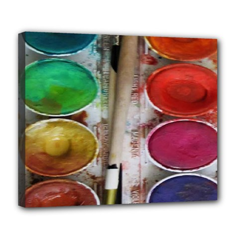 Paint Box Deluxe Canvas 24  X 20  (stretched)