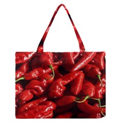 Red Chili Zipper Medium Tote Bag by Sudhe