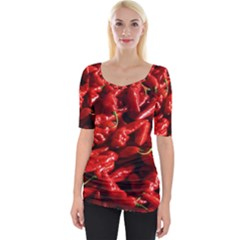 Red Chili Wide Neckline Tee