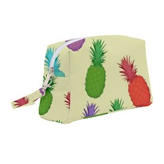 Colorful Pineapples Wallpaper Background Wristlet Pouch Bag (medium)
