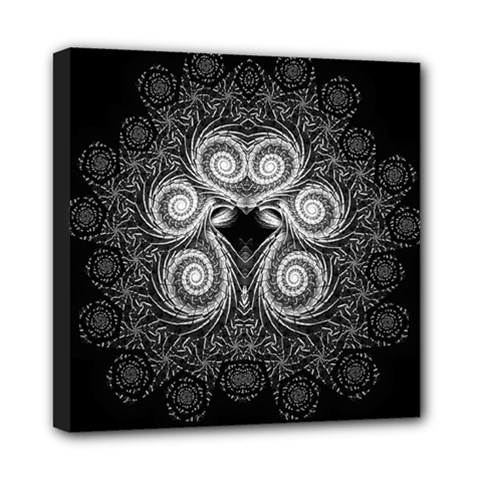 Fractal Filigree Lace Vintage Mini Canvas 8  X 8  (stretched)