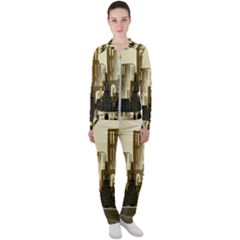 Architecture City House Casual Jacket And Pants Set