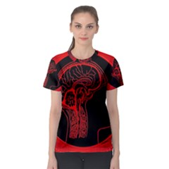 Artificial Intelligence Brain Think Women s Sport Mesh Tee