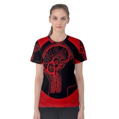 Artificial Intelligence Brain Think Women s Cotton Tee