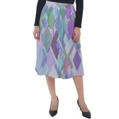 Colorful Background Multicolored Classic Velour Midi Skirt