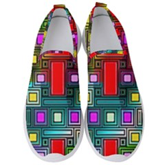 Art Rectangles Abstract Modern Art Men s Slip On Sneakers