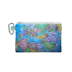 Globe World Map Maps Europe Canvas Cosmetic Bag (small) by Sudhe