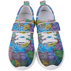 Globe World Map Maps Europe Women s Velcro Strap Shoes by Sudhe