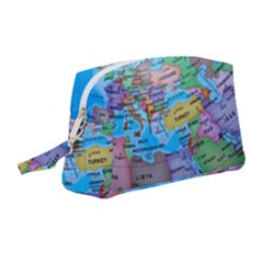 Globe World Map Maps Europe Wristlet Pouch Bag (medium) by Sudhe