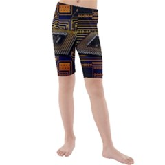 Processor Cpu Board Circuits Kids  Mid Length Swim Shorts