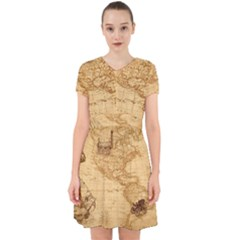 Map Discovery America Ship Train Adorable In Chiffon Dress by Sudhe