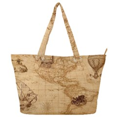 Map Discovery America Ship Train Full Print Shoulder Bag