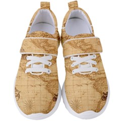 Map Discovery America Ship Train Women s Velcro Strap Shoes by Sudhe