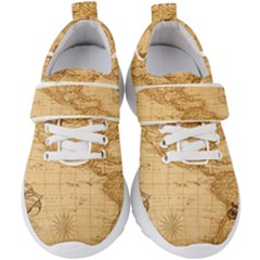 Map Discovery America Ship Train Kids  Velcro Strap Shoes
