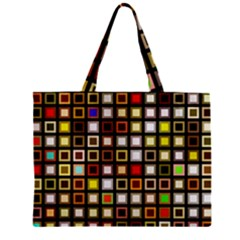 Squares Colorful Texture Modern Art Zipper Mini Tote Bag