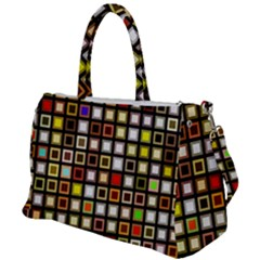 Squares Colorful Texture Modern Art Duffel Travel Bag