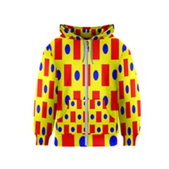 Pattern Design Backdrop Kids  Zipper Hoodie