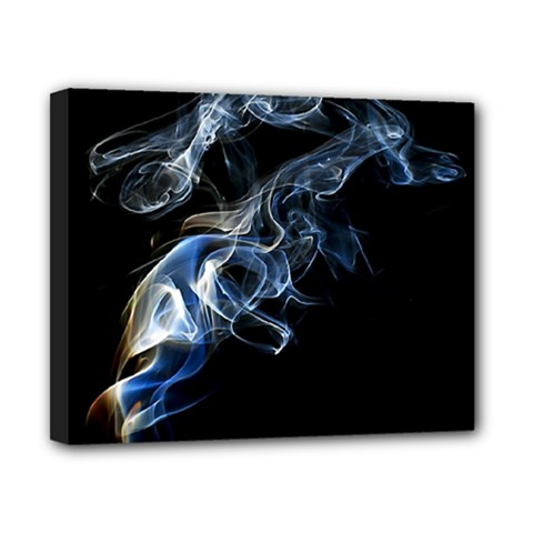 Smoke Flame Dynamic Wave Motion Canvas 10  X 8  (stretched)